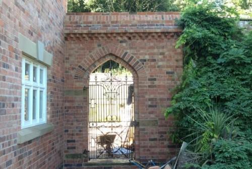 Double Tudor Arched Gate Entrance